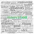 Stock Photo: Innovation and technology concept in tag cloud