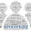 Social networking conept in word tag cloud — Stock Photo #28966247