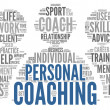 Coaching concept tag cloud — Stock Photo #28966295