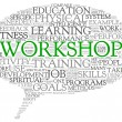 Workshop and learning related words concept — Stok fotoğraf