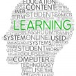 Learning concept in word tag cloud — Stock Photo #29359837