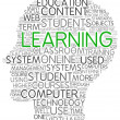 Learning concept in word tag cloud — Foto de Stock