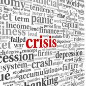Crisis concept on white — Stock Photo