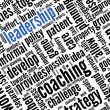 Leadership concept in word tag cloud — Foto Stock