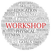 Workshop and learning related words concept — Stock Photo