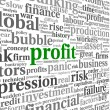 Profit and financial risk concept in info-text graphics — Stock Photo