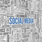 Concepto de medios social — Foto de Stock