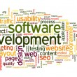 Software development concept in tag cloud — Stock fotografie #32942145