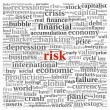 Risk in economy and finance concept in word tag cloud — Stock Photo