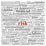 riesgo en concepto de economía y Finanzas en tag cloud de palabra — Foto de Stock