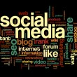 social media conept in word tag cloud — Stock Photo #32942183