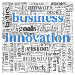 Business innovation concept in word tag cloud — Stock Photo
