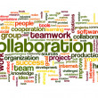 Collaboration concept in word tag cloud — Stock Photo #32942229