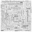 Idea and business concept in word tag cloud — Stock Photo