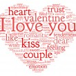 I love you and valentine concept in word tag cloud — Stock Photo #32942273