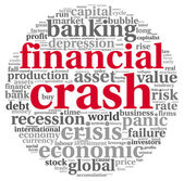Crisis concept in word tag cloud — Stock Photo