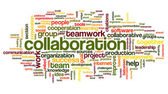 Collaboration concept in word tag cloud — Stock Photo