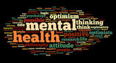 Mental health in word tag cloud — Stock Photo