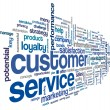 Customer service concept in word cloud — Stock Photo #33754081