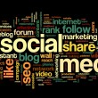 social media conept in word tag cloud — Stock Photo #34475217