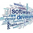 Software development concept in tag cloud — Stock Photo #34475233
