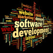 Software development concept in tag cloud — Stock Photo #34475249