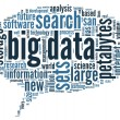 Big data concept in word cloud — Stock Photo #35304357