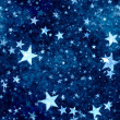 Christmas blue stars background — Foto de Stock