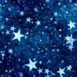 Christmas blue stars background — Stock Photo #35304531