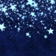 Christmas blue stars background — Foto Stock