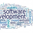 Software development concept in tag cloud — Foto Stock