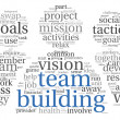 Stock Photo: Teamwork concept in word tag cloud
