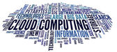 Cloud computing in word tag cloud — Stock Photo