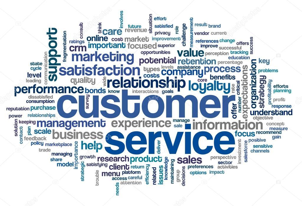 Customer Service Concept In Word Cloud  U2014 Stock Photo
