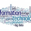 Information technology in tag cloud — Stock Photo #35717905