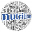 Nutrition concept in tag cloud — Stock Photo