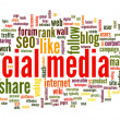 Social media conept in word tag cloud — Stock Photo #35718033