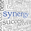Synergy concept in word tag cloud — Stock Photo