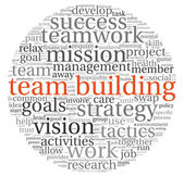 Team building concept in word tag cloud — Stock Photo