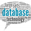 Database concept in word cloud — Stok fotoğraf