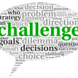 Challenge concept in word tag cloud — Foto Stock