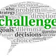 Stock Photo: Challenge concept in word tag cloud