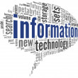 Information technology in tag cloud — Stock Photo