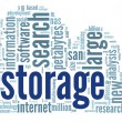 Storage concept in word cloud — Foto de Stock