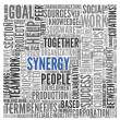 Synergy concept in word tag cloud — Stock Photo #36065523