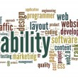 Usability concept in tag cloud — Foto de Stock