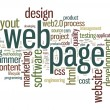 Web page concept in word tag cloud — Stock Photo