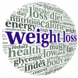 Weight loss  concept in tag cloudcloud — Stock Photo