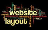 Web layout concept in word tag cloud — Stock Photo