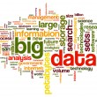 Big data concept in word cloud — Stock Photo #37042835